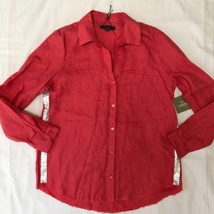 NWT For Cynthia linen shirt